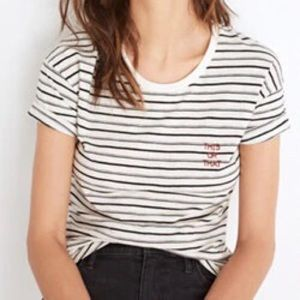 Madewell This or That embroidered Tee in stripe